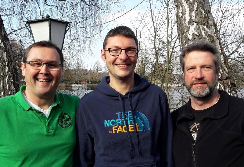 Mathias Doll mit Jörg Schielke und Timo Kihn