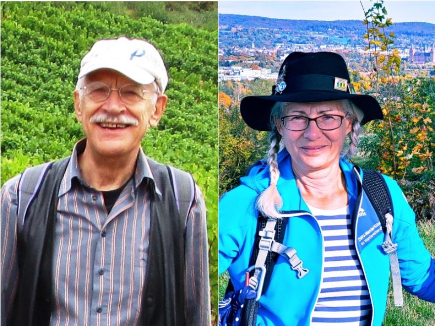 Hans-Jürgen Pietruska übergibt die Seniorenwanderungen an Regina Timper Richter